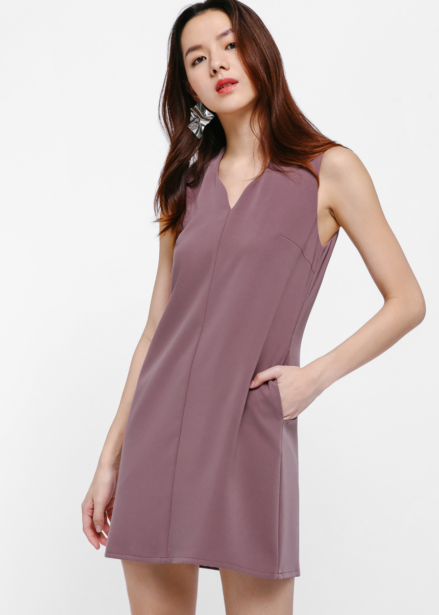 Priela Notch Neck Shift Dress