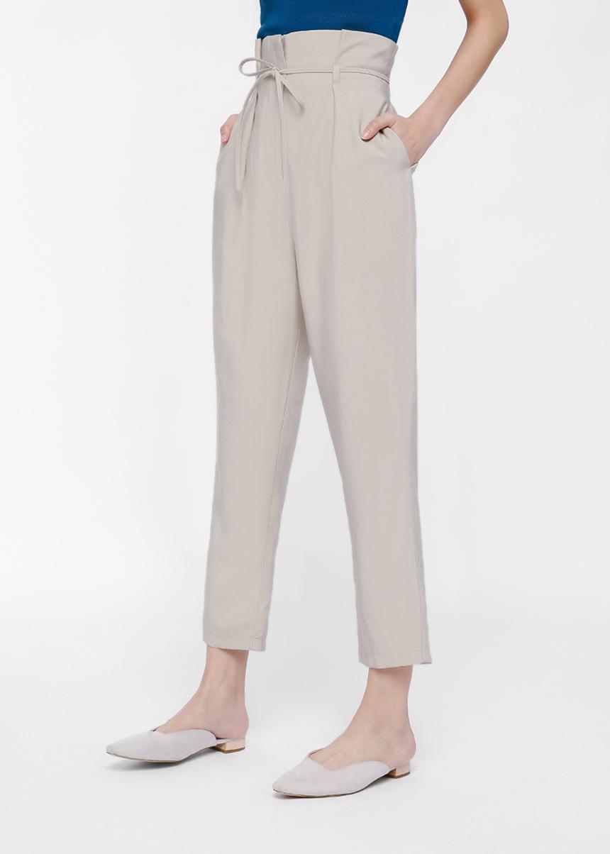 Juwenta Paperbag Waist Cropped Pants