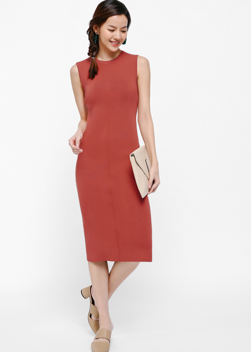 Louris Knit Midi Dress