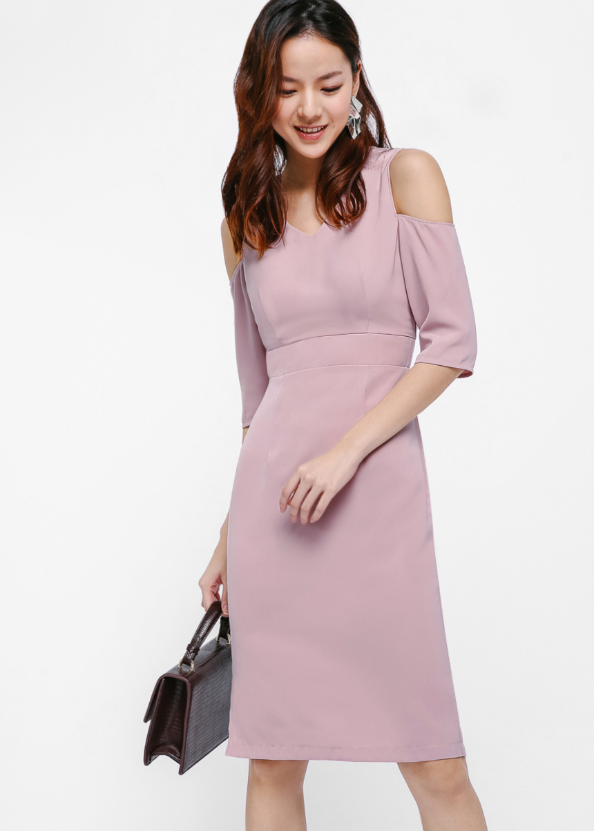 Kalel Cold Shoulder Midi Dress