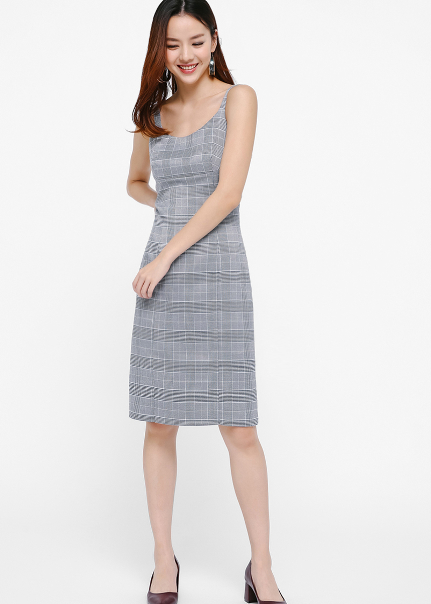 Ivette Plaid Pencil Dress
