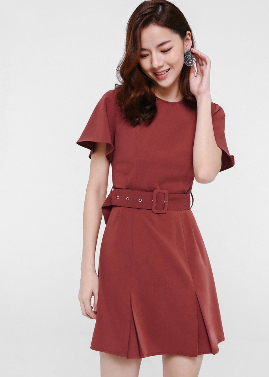 Milena Belted A-line Dress