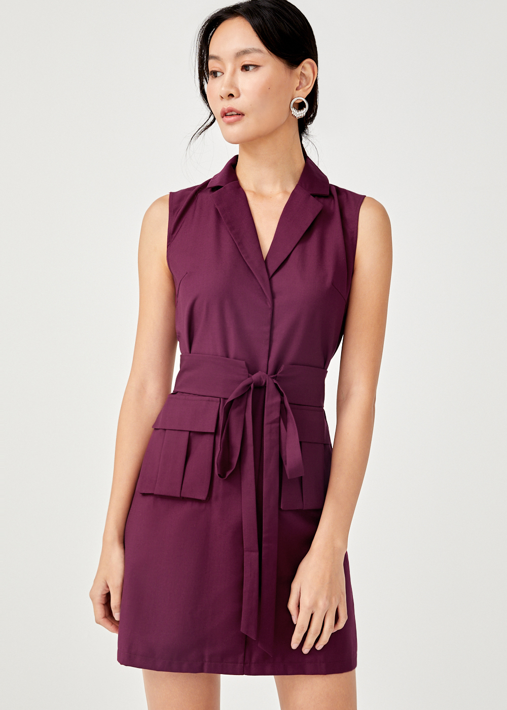 Oralie Front Pocket Tuxedo Dress