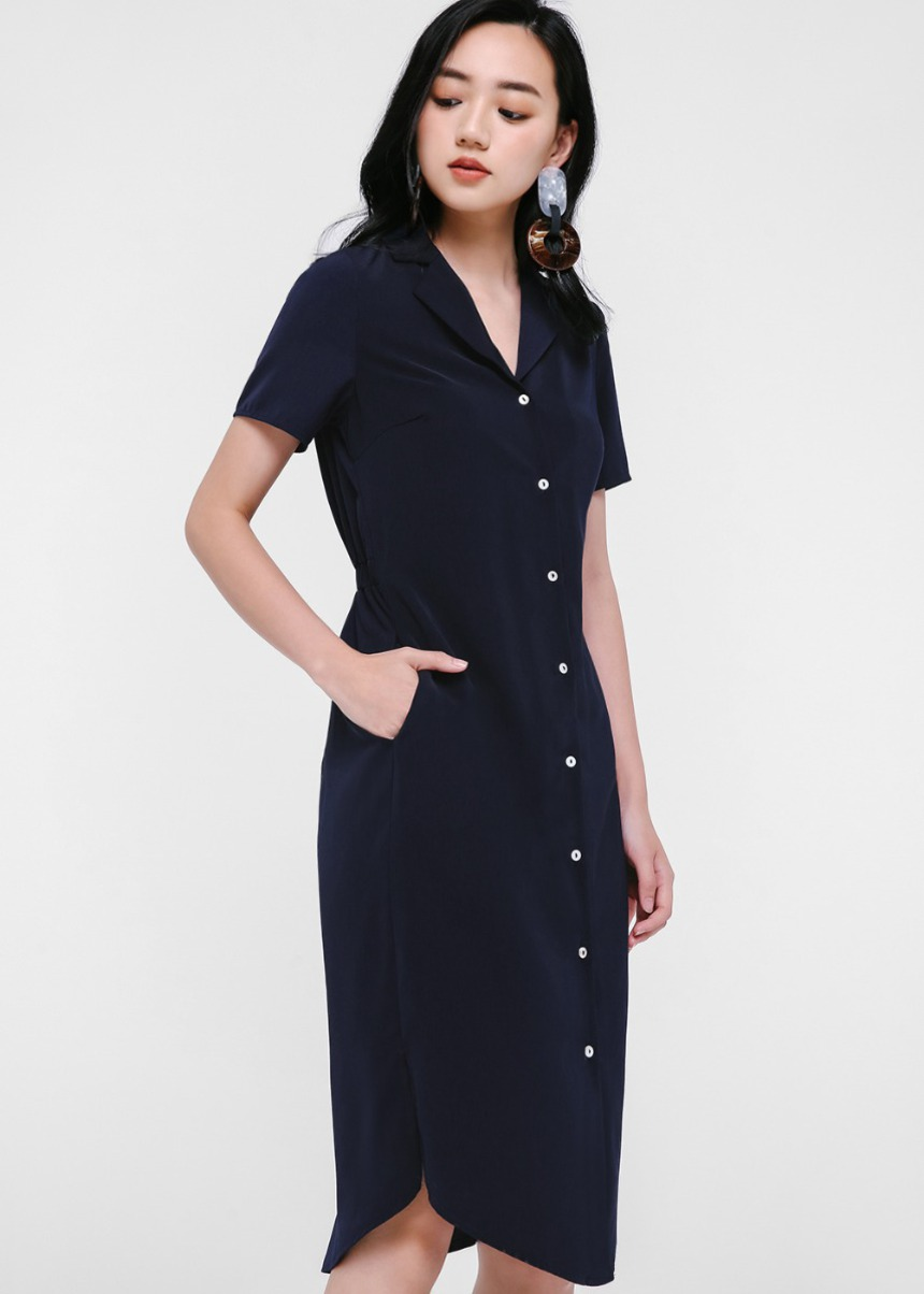 Rilla Button Down Midi Dress
