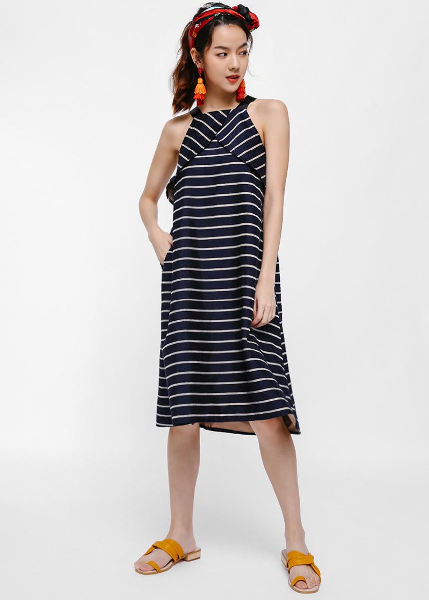 Moryen Striped Trapeze Dress