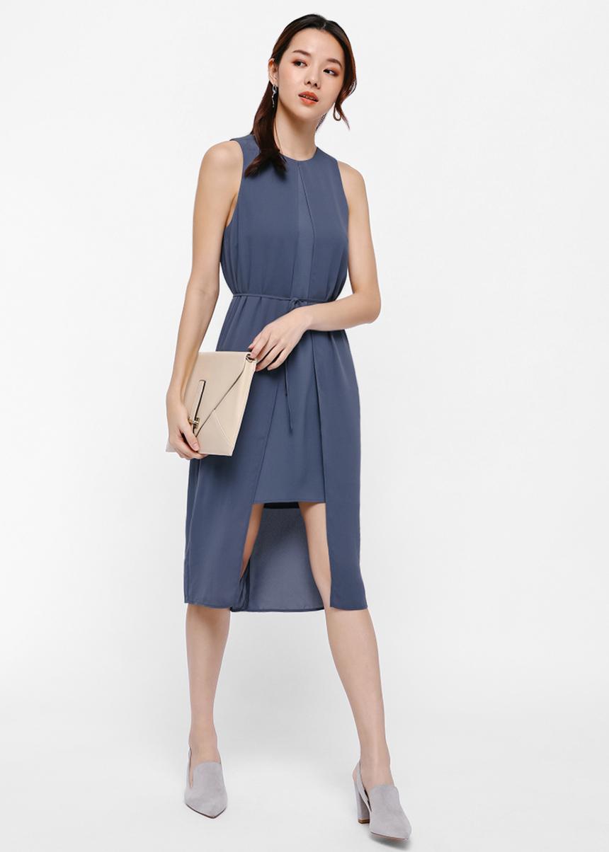 Drew Layered High-Low Dress