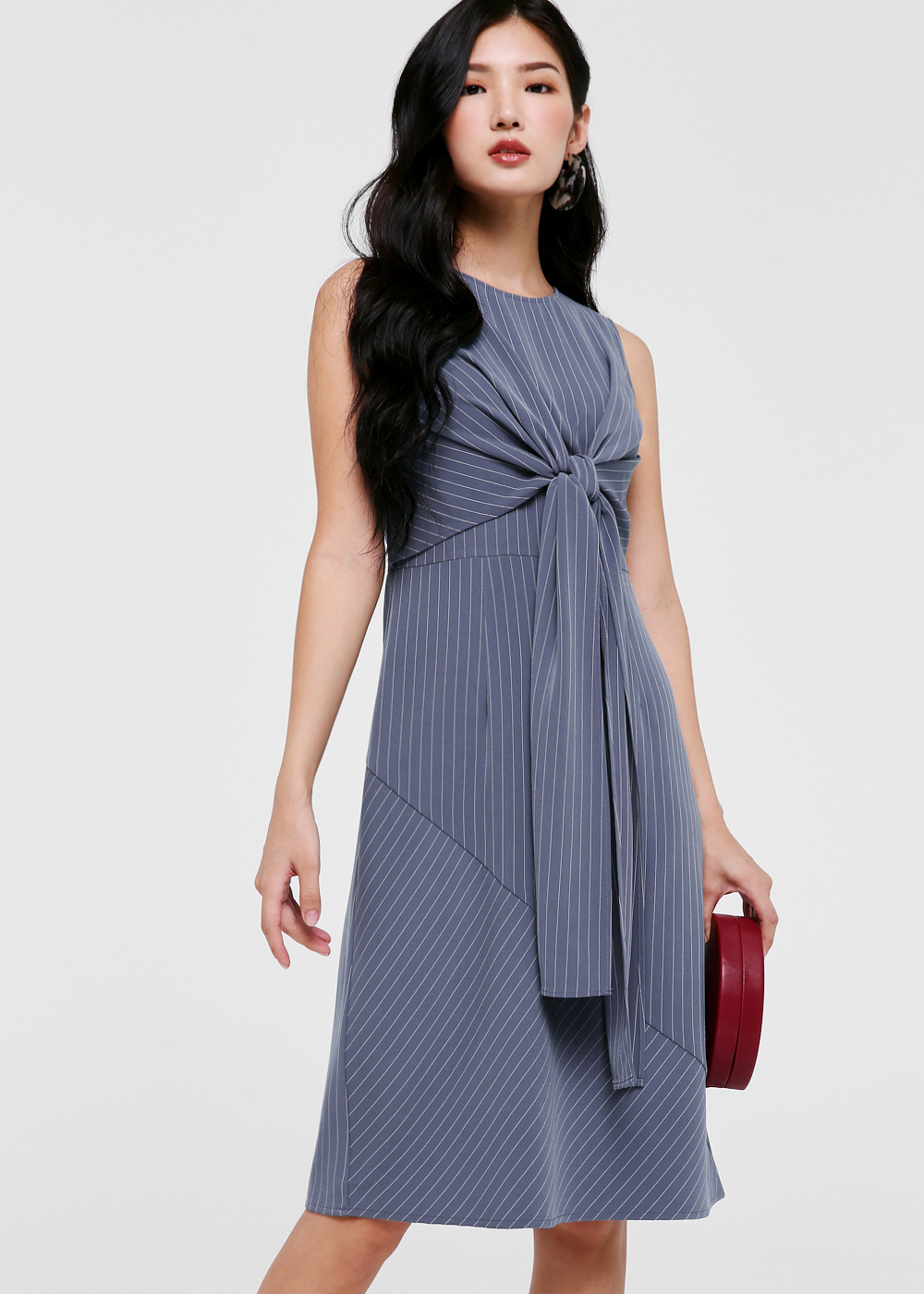 Helexa Tie Front Midi Dress