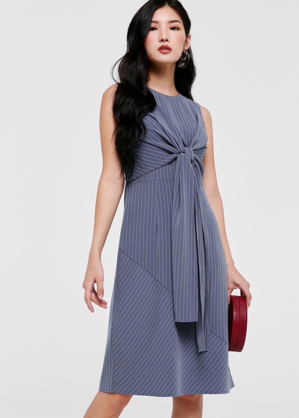 Helexa Tie Front Midi Dress
