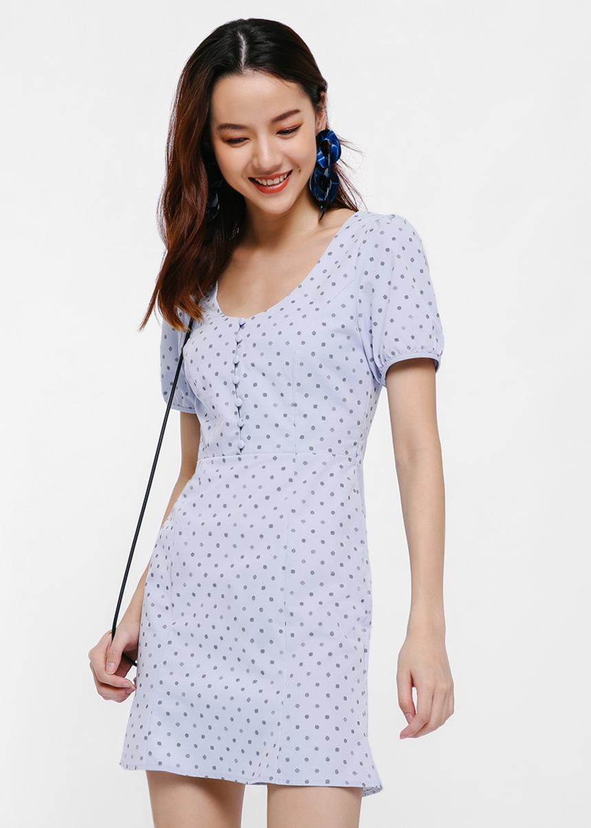 Fuvor Puff Sleeve Mini Dress