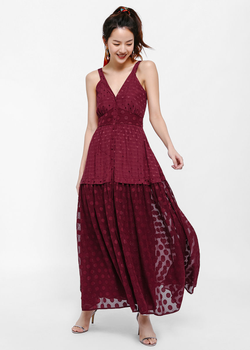 Ruxette Textured Maxi Dress