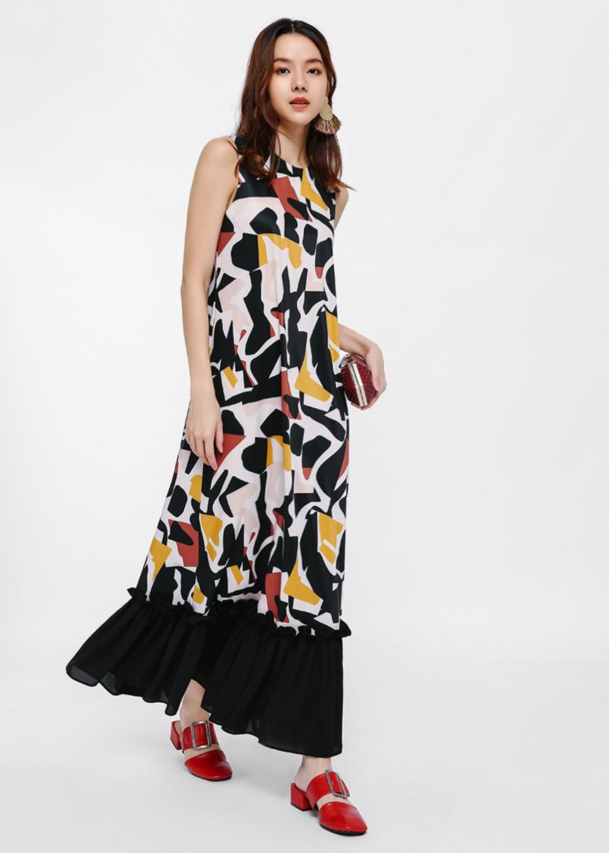 Syret Printed Maxi Dress