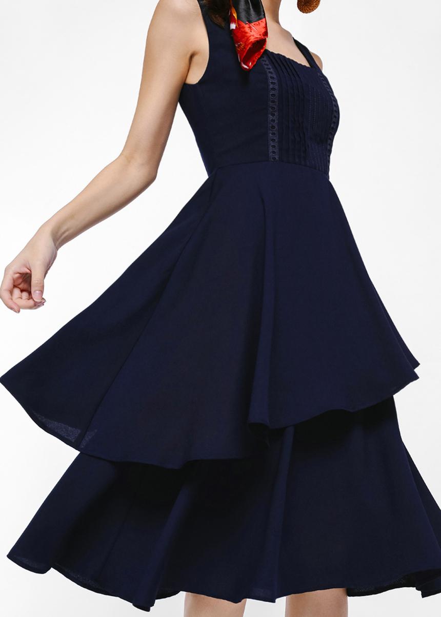 Freja Layered Midi Dress
