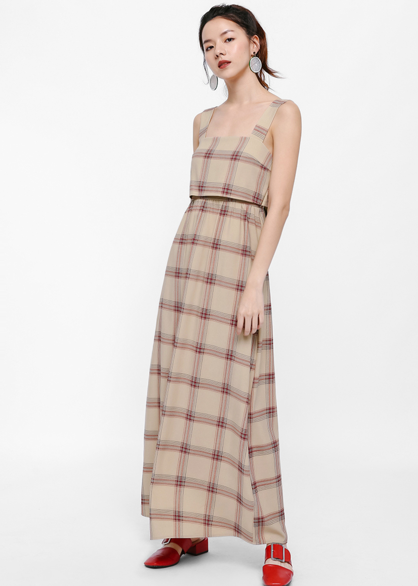 Grenalyn Plaid Maxi Dress