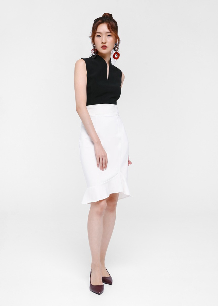 Galina Trumpet Midi Skirt