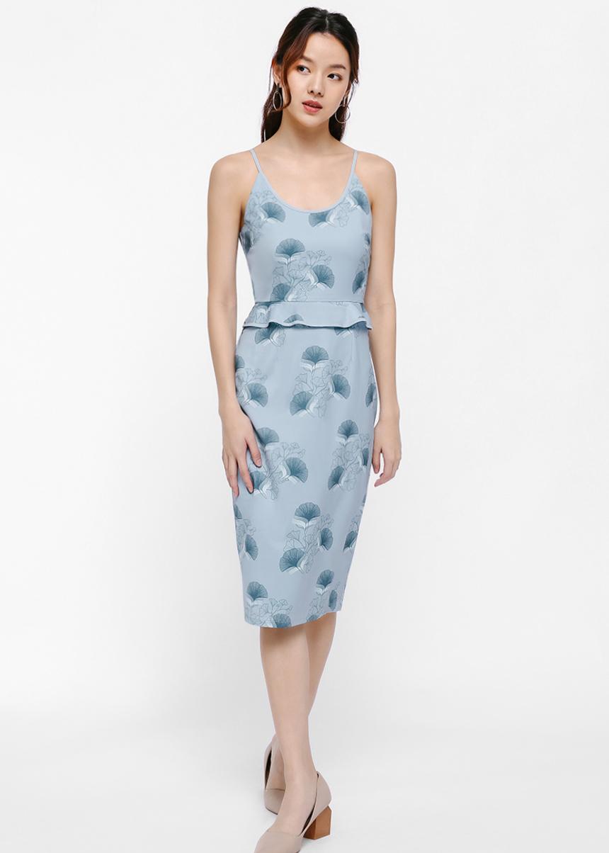 Mireya Printed Peplum Dress