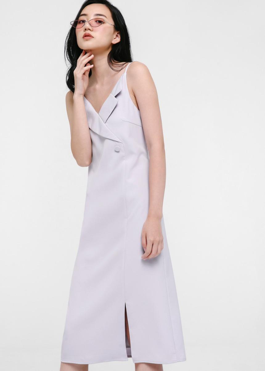 Karenna Tuxedo Slip Dress