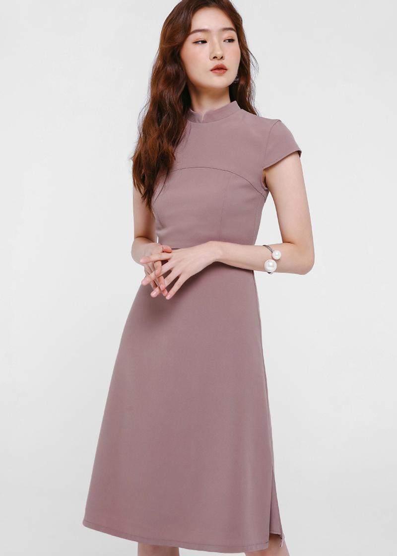 Veryn Mandarin Collar Shift Dress