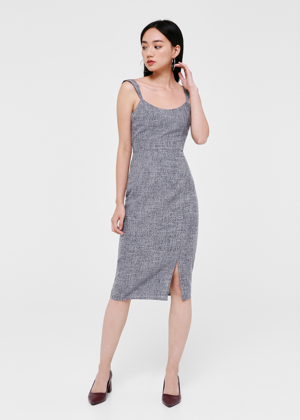 Amari Tweed Midi Dress