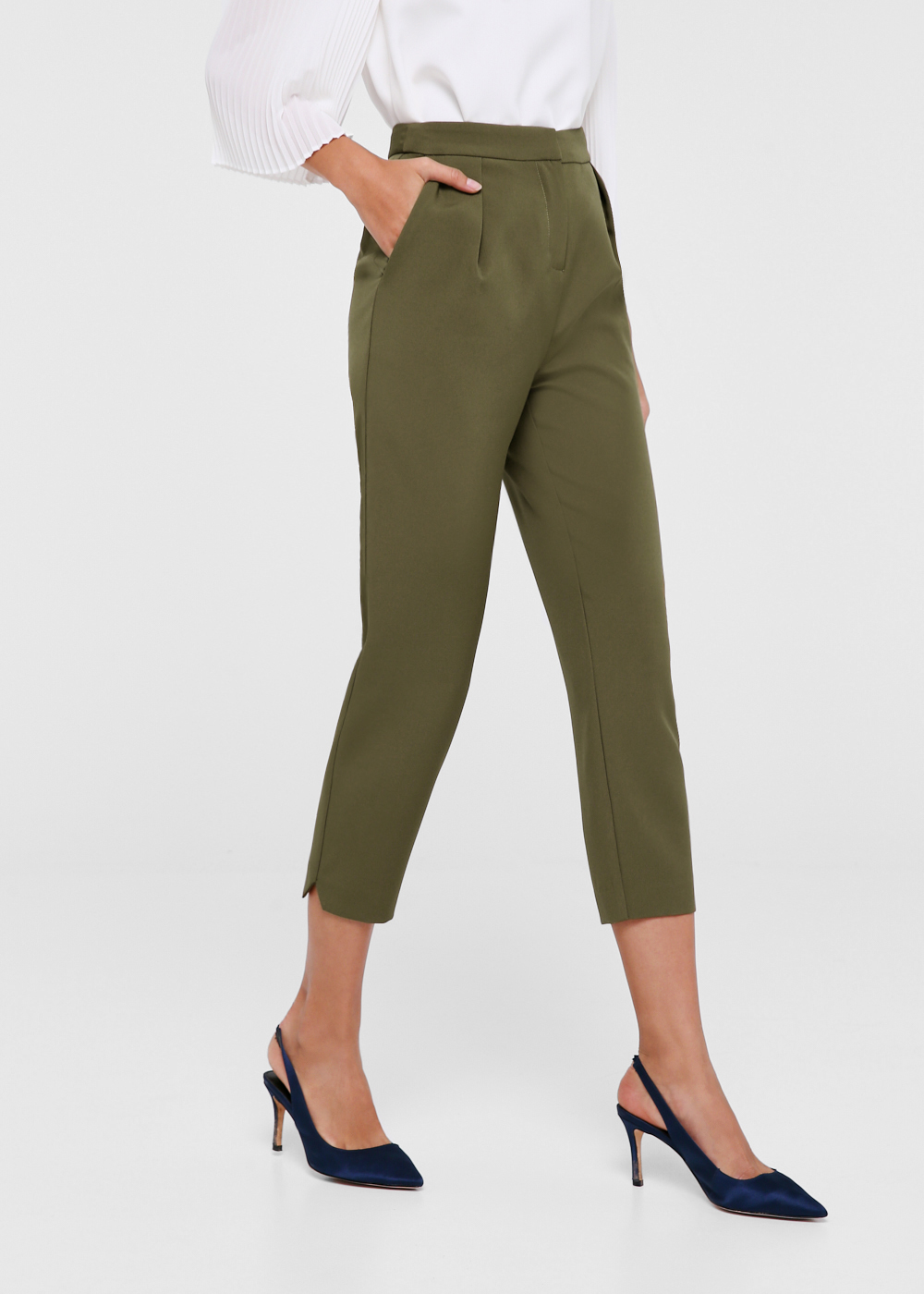 Ailana Slim Fit Crop Pants