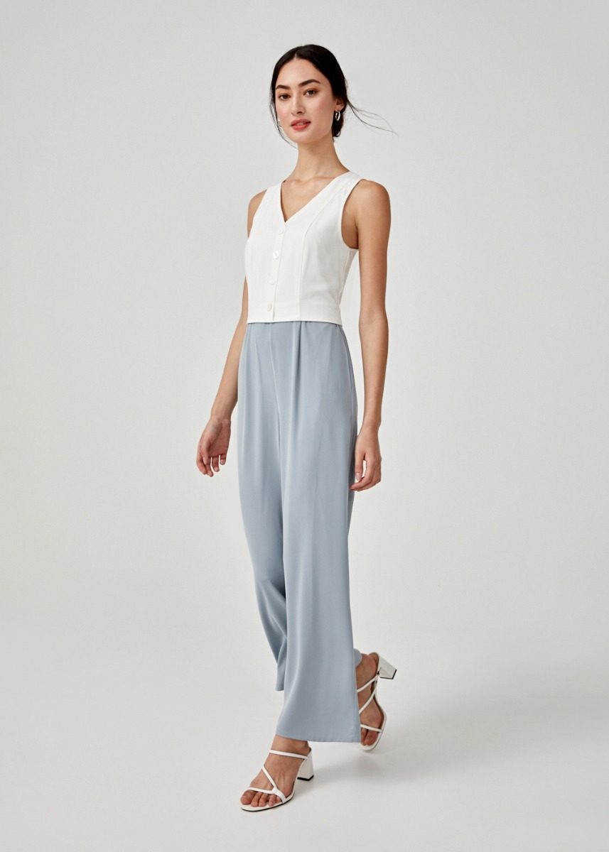 Kade Button Down Jumpsuit