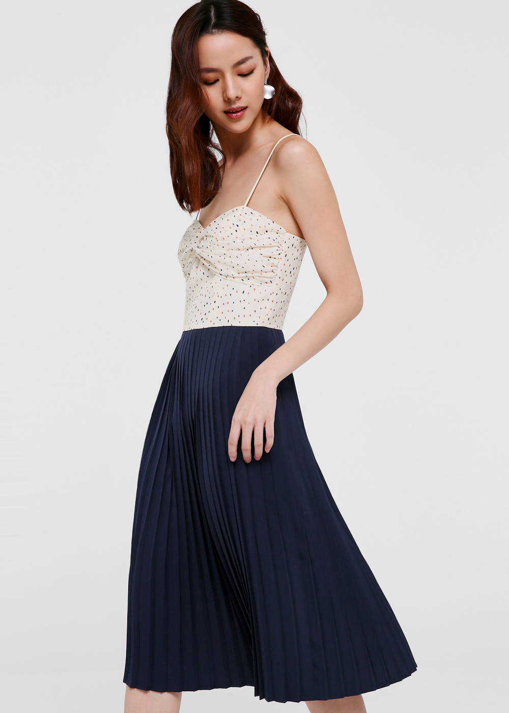 Daniela Pleated Bustier Dress