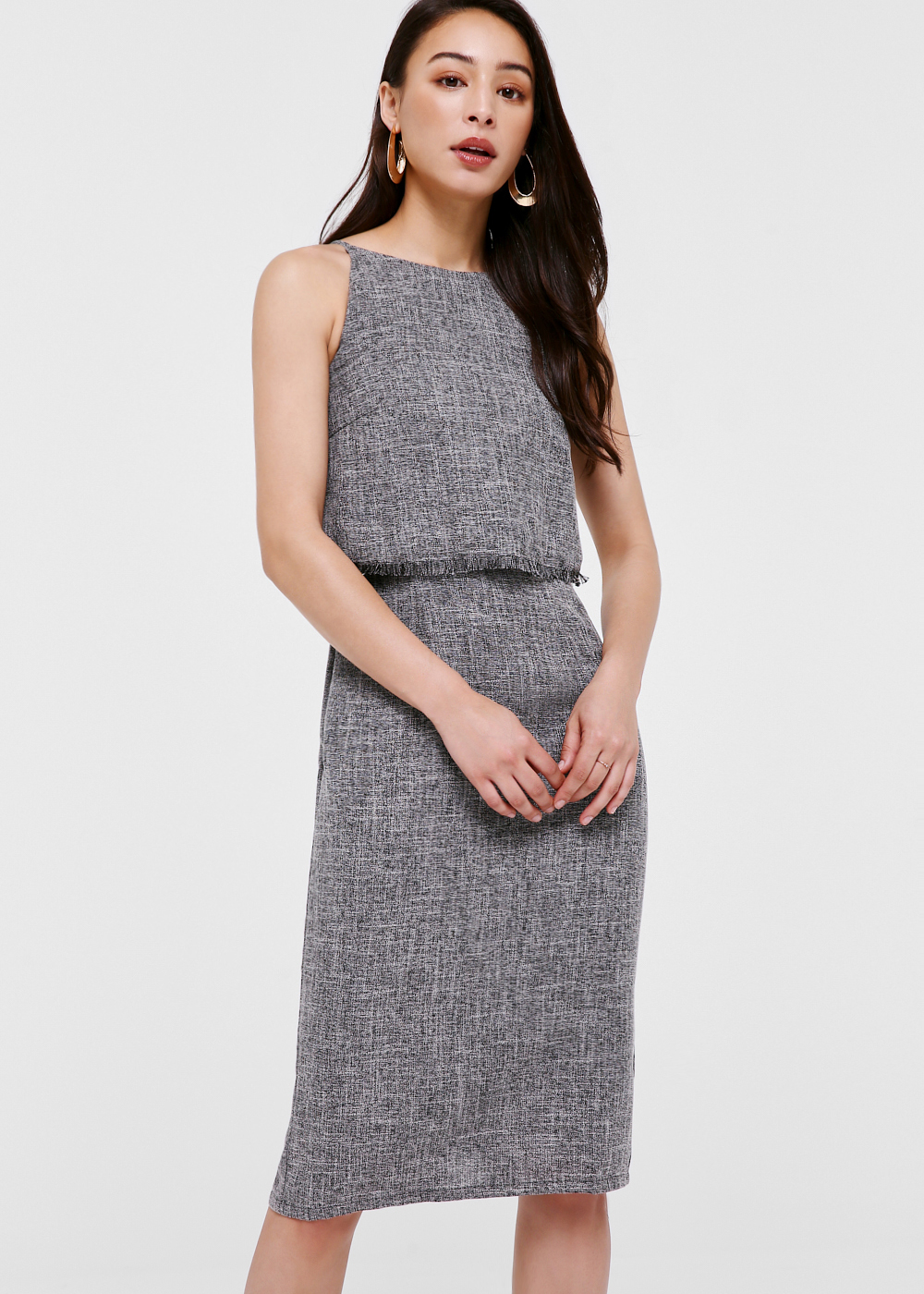 Shania Layered Tweed Dress