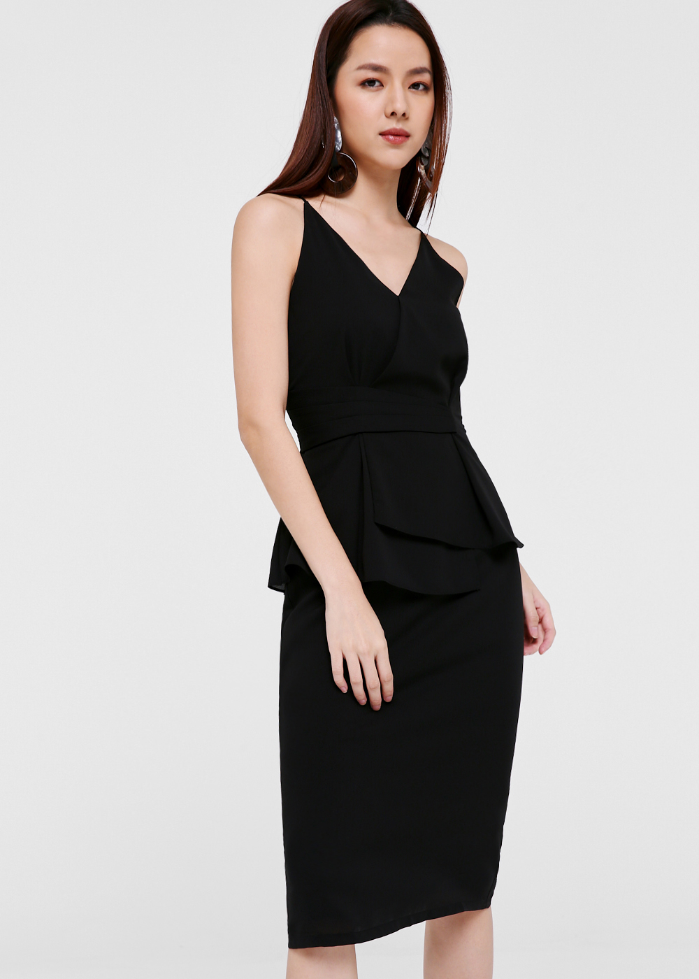 Demi Foldover Peplum Dress