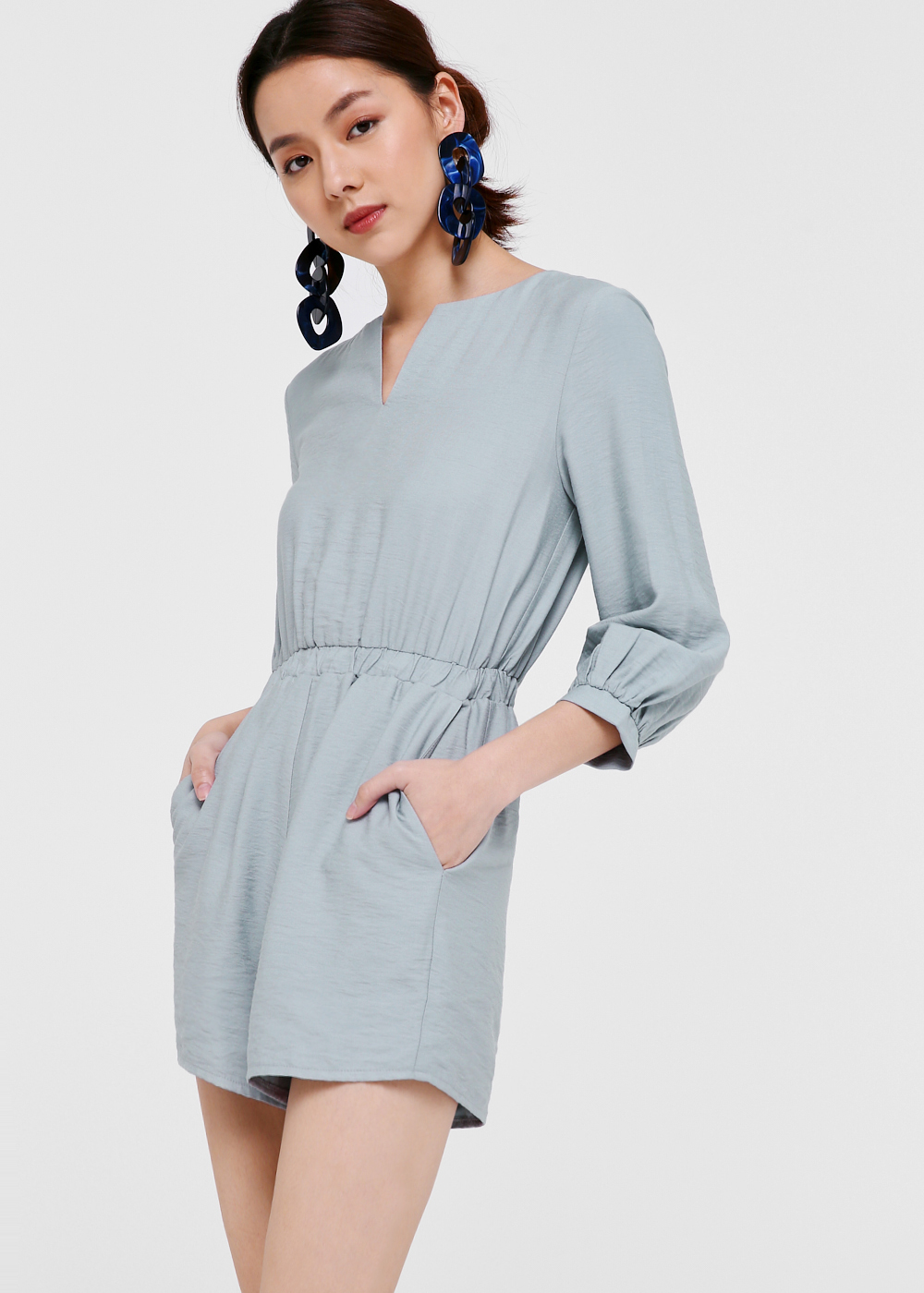 Devan Balloon Sleeve Romper