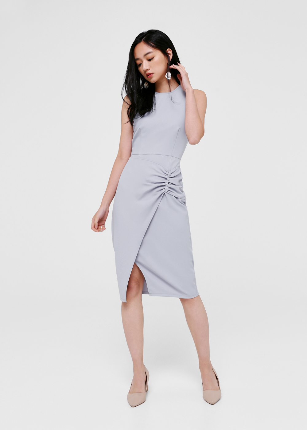 Madeline Ruched Midi Dress