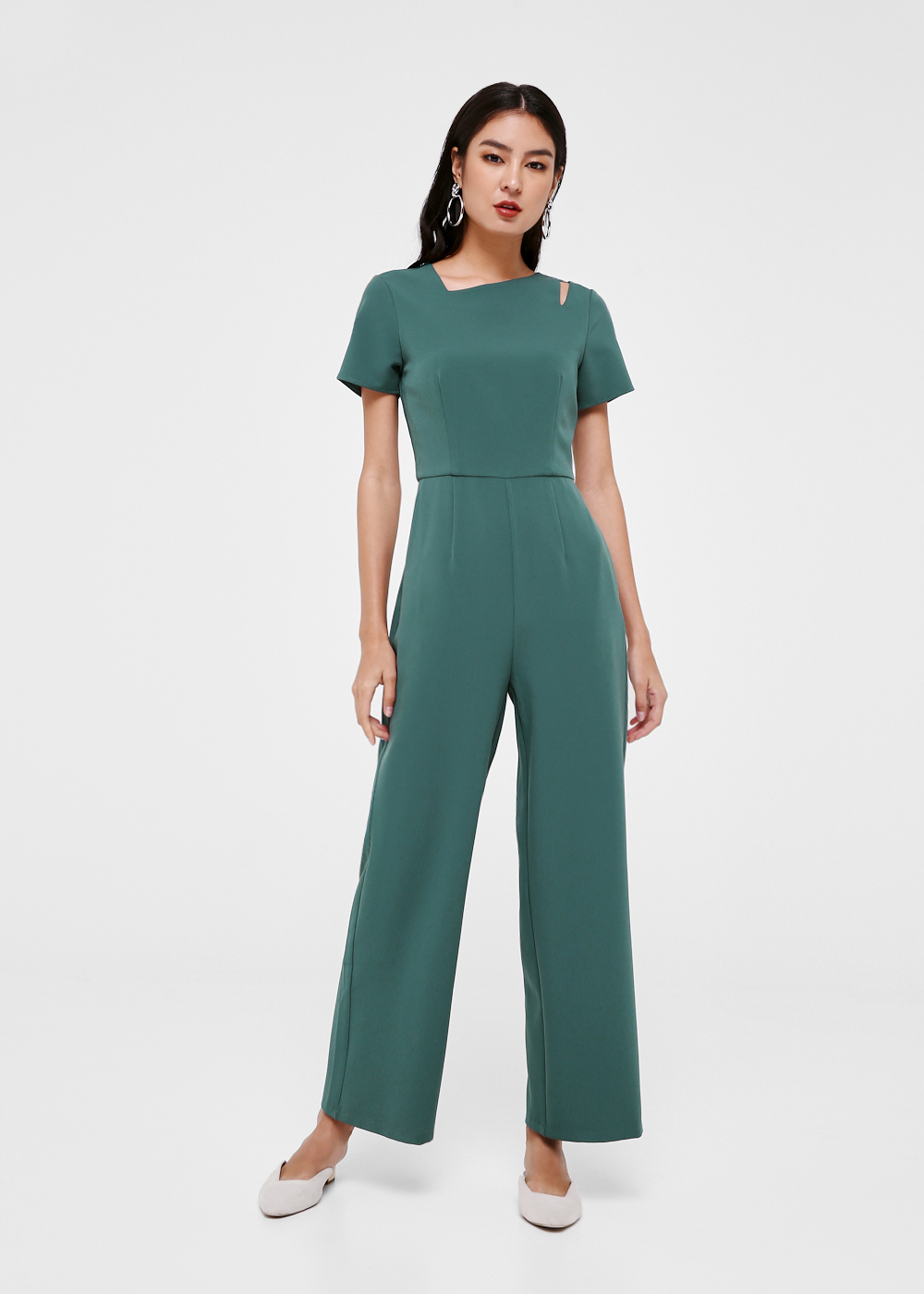 Cassandra Shoulder Cutout Jumpsuit