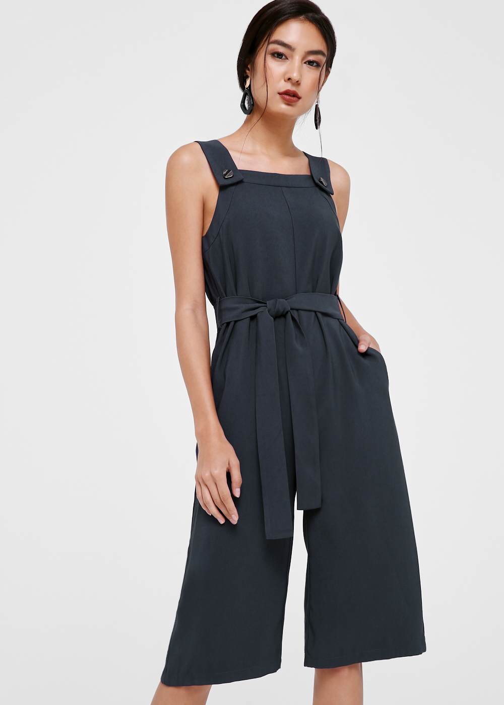 Mariana Button Front Midi Jumpsuit