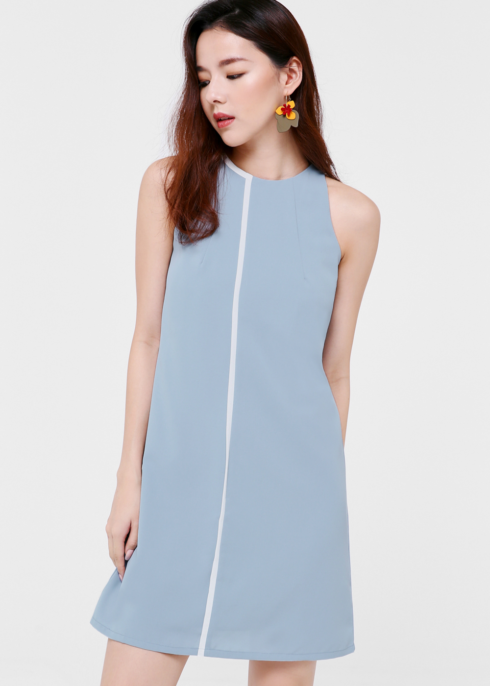 Coraline Collared Contrast Dress