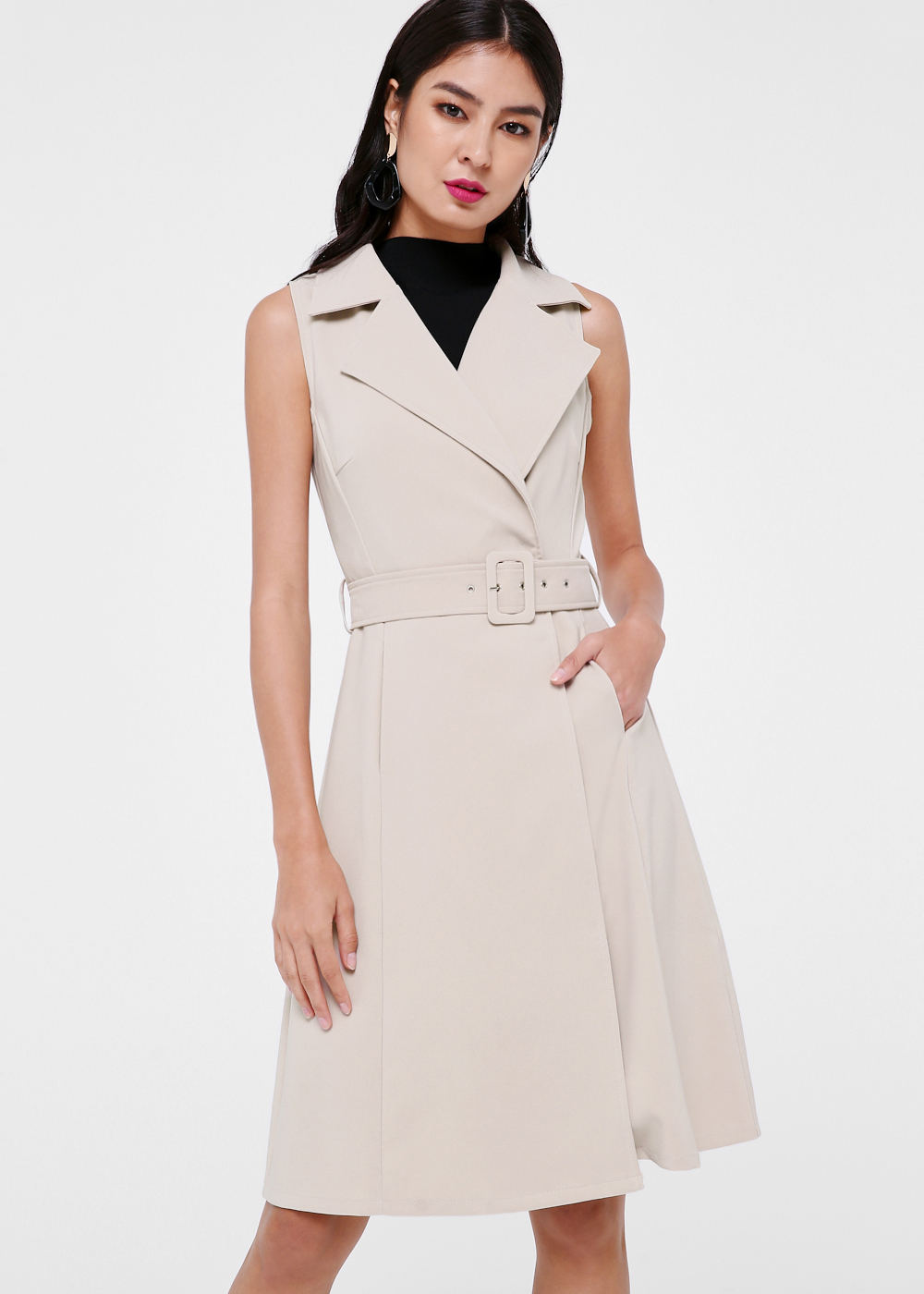 Kalila Belted Trench Dress