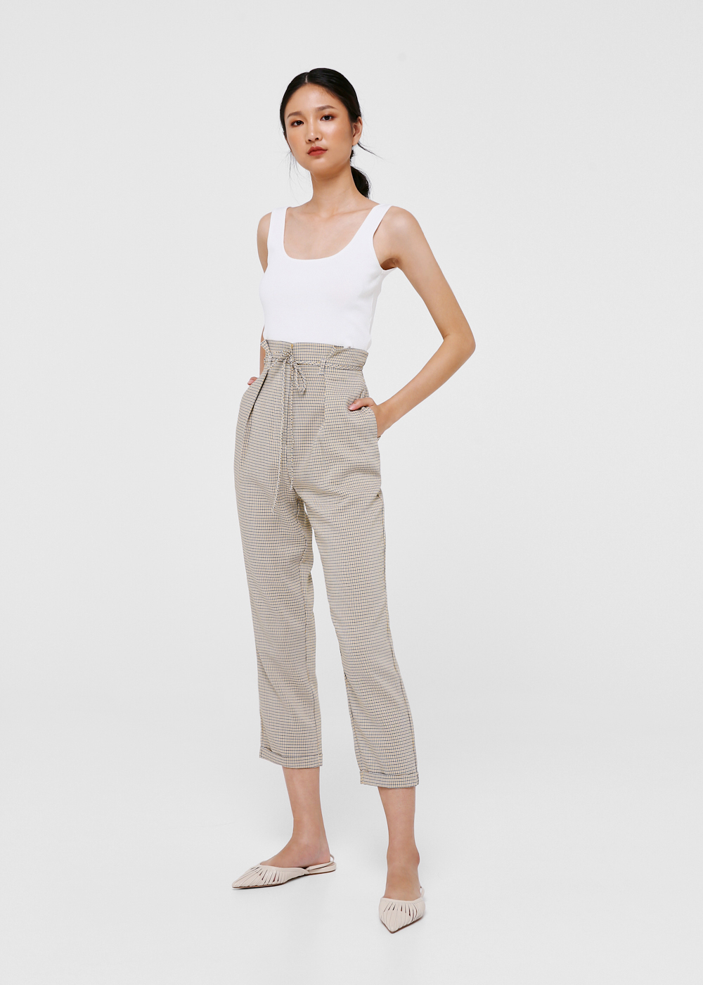 Sawyer Paperbag Waist Cropped Pants