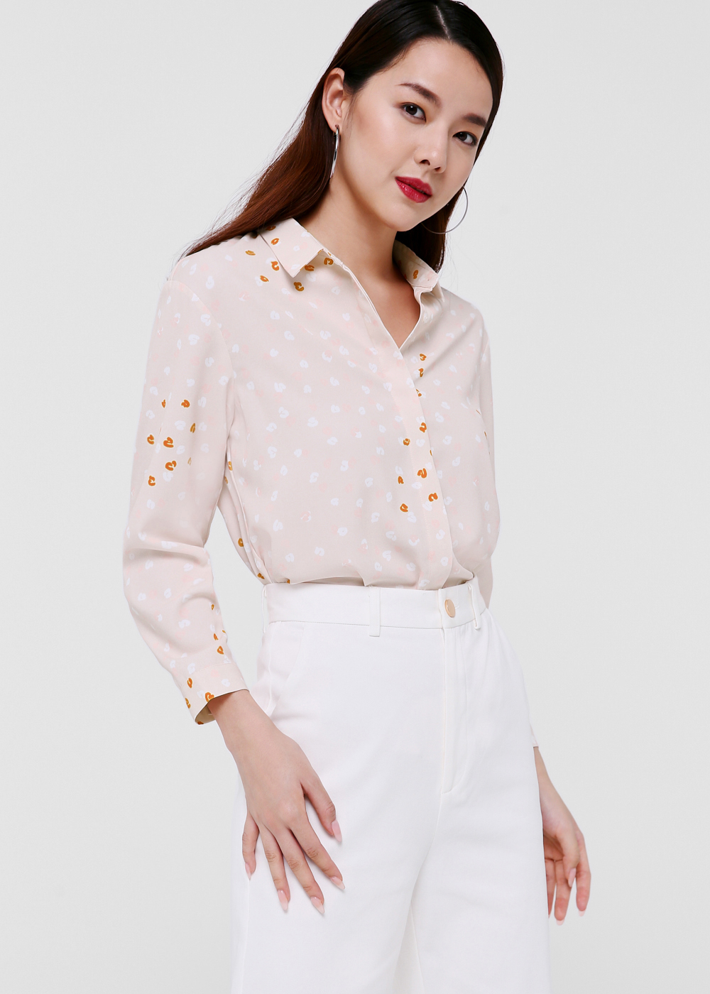 Navaeh Printed Shirt in Starburst Confetti