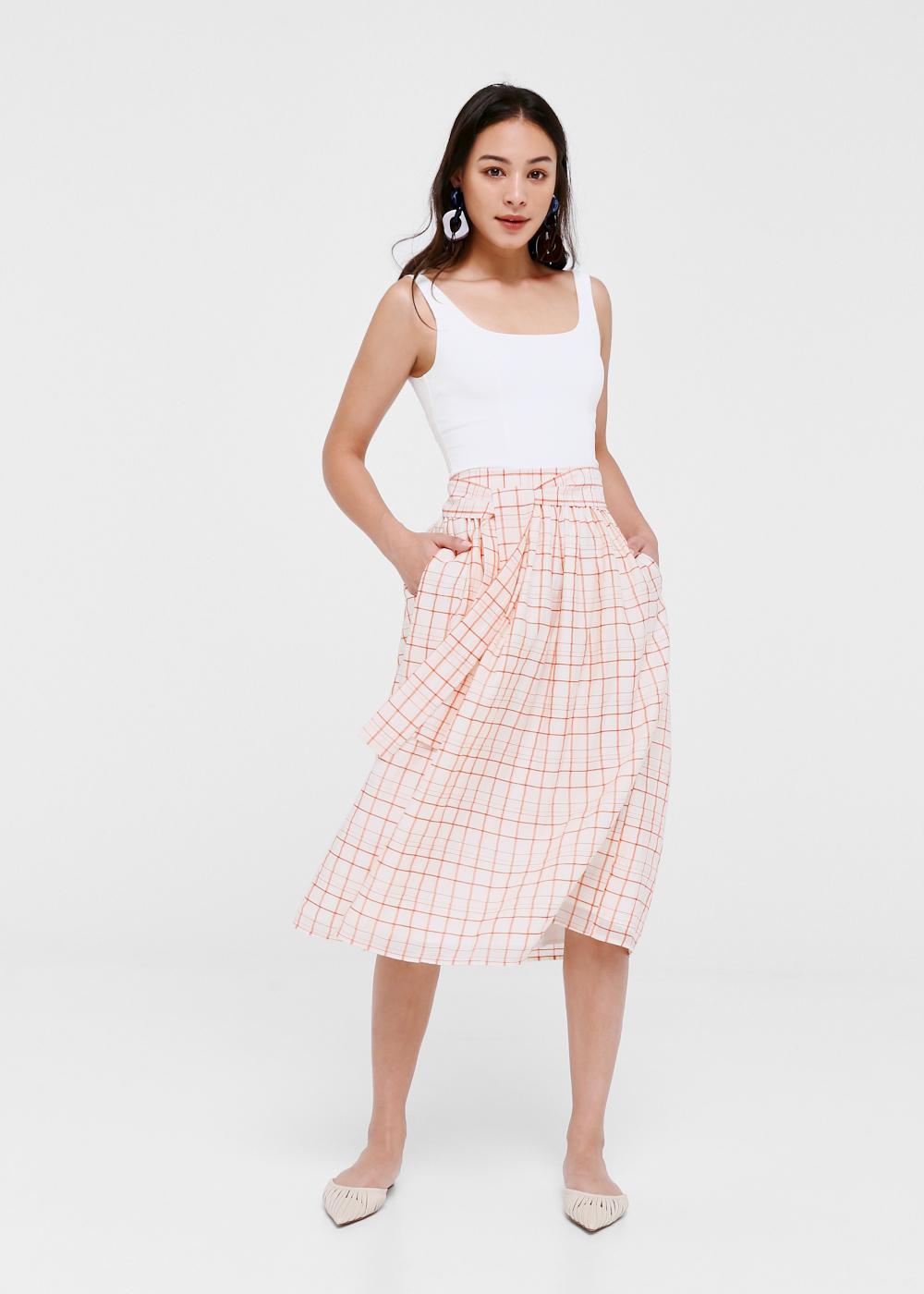 Irma A-line Midi Skirt