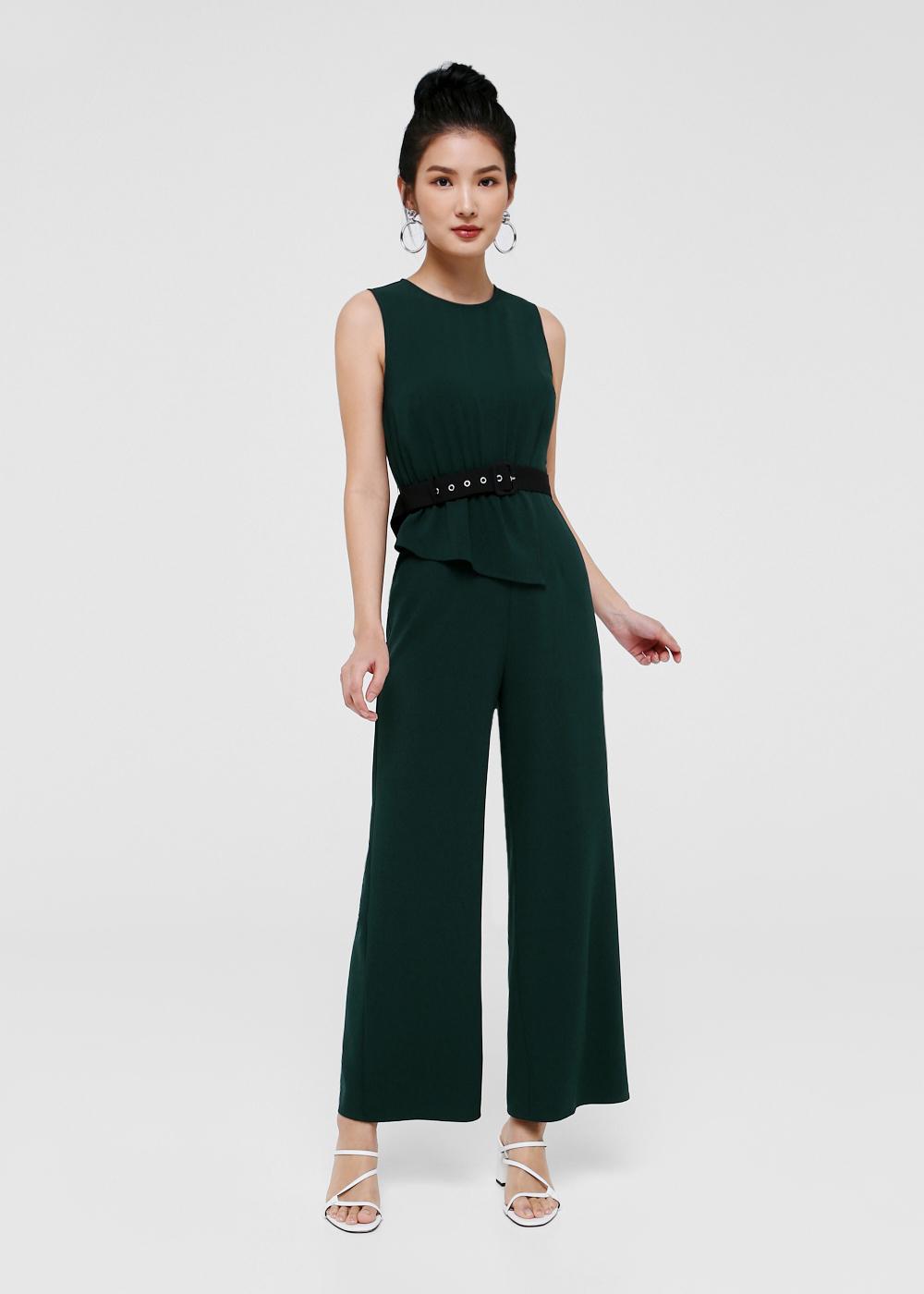 Jada Belted Colourblock Jumpsuit