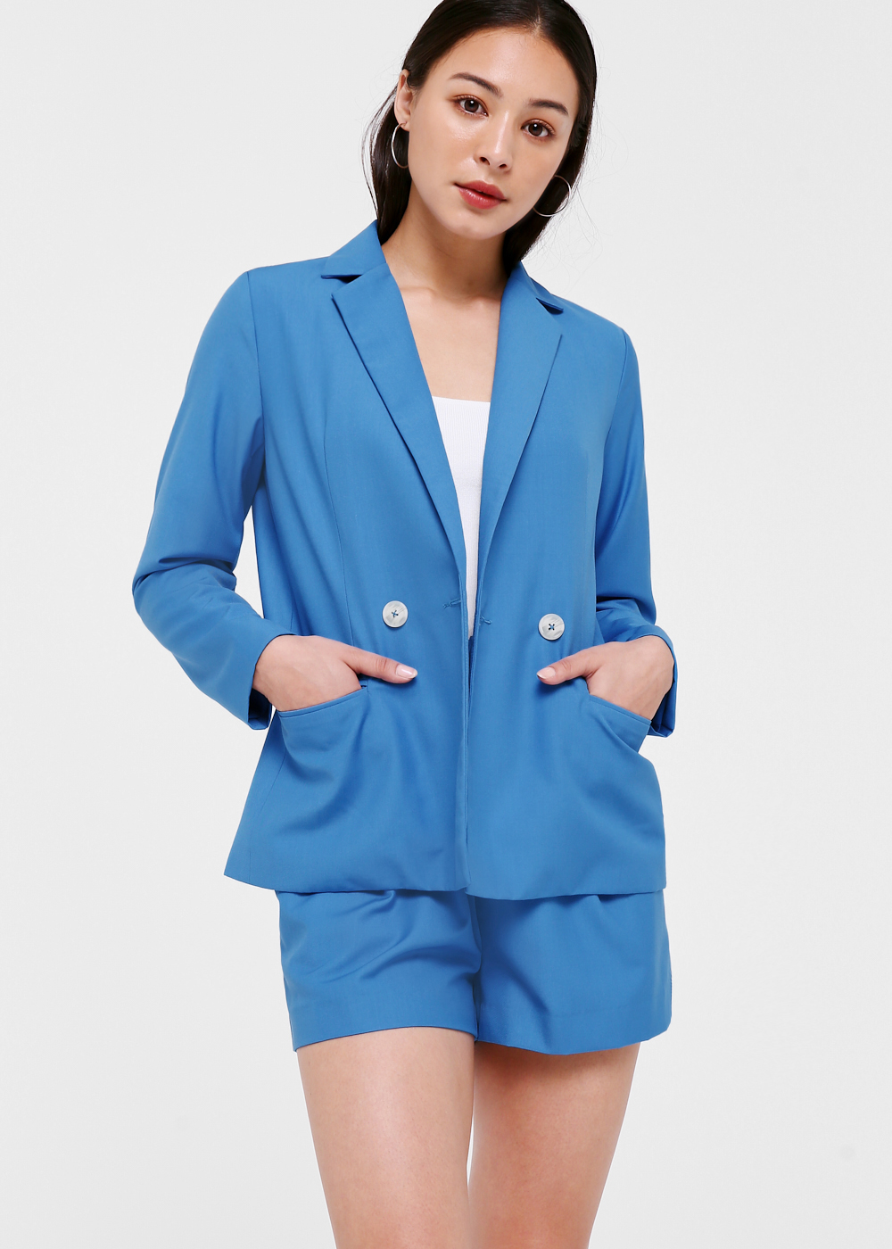 Lyana Button Front Blazer
