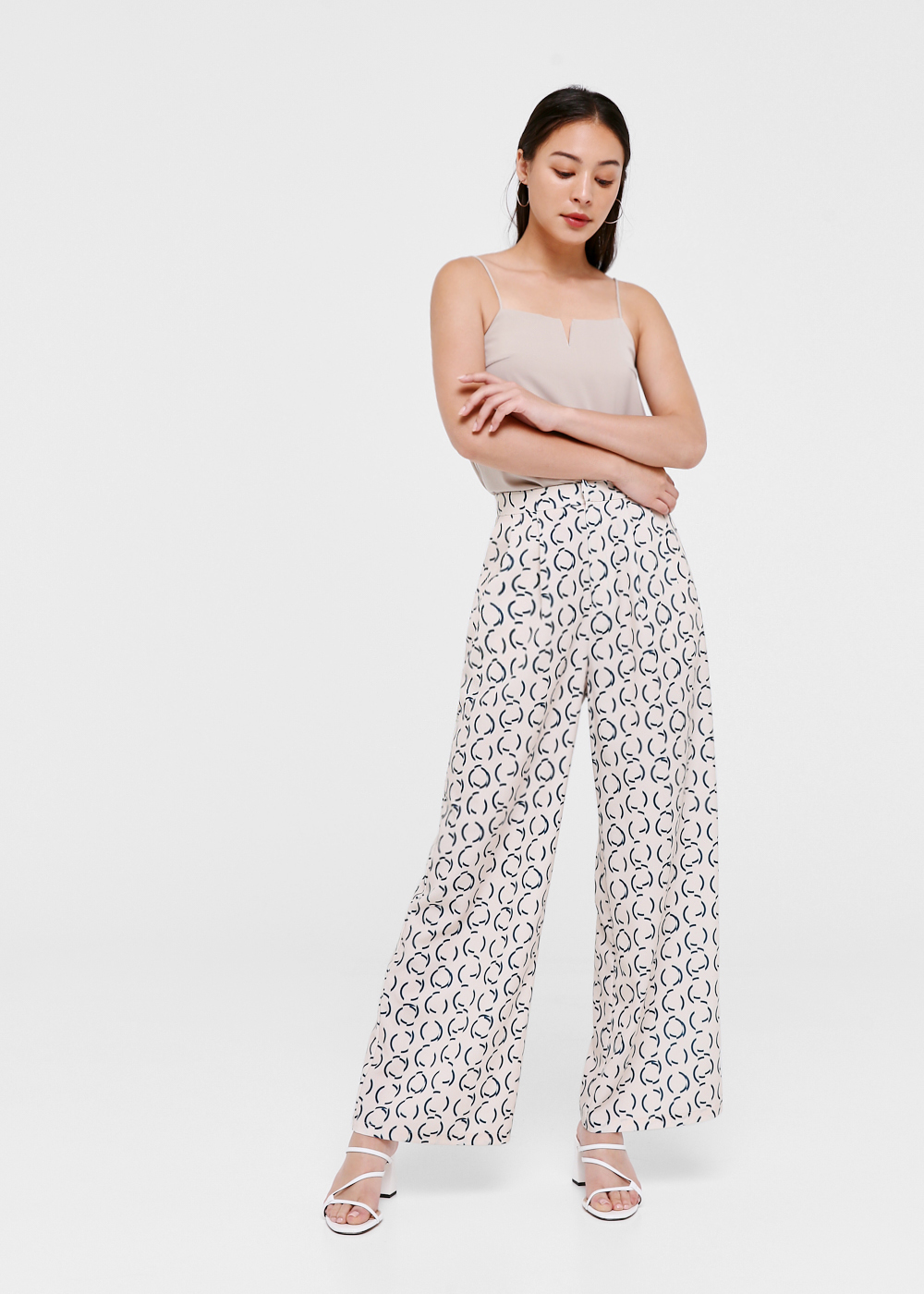 Kelsie High Waist Pants in Retro Stencil