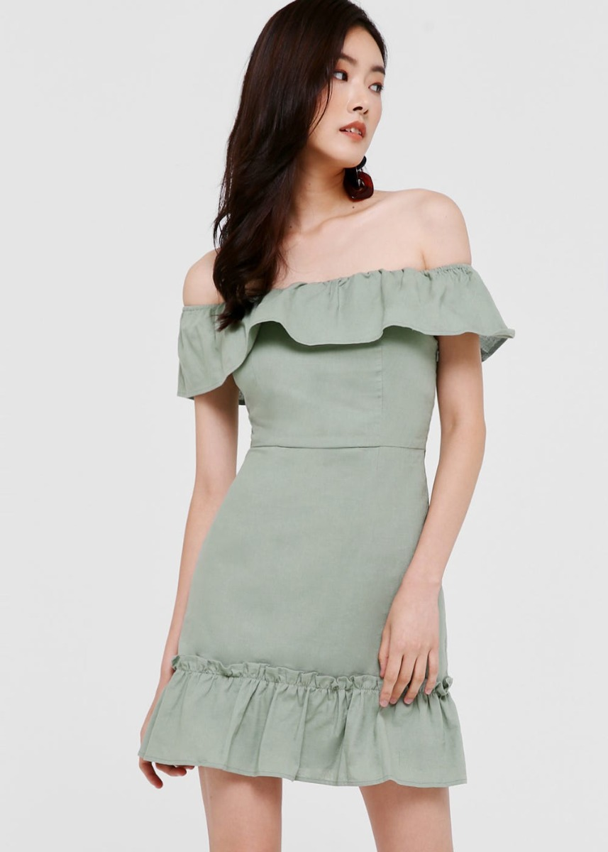 Darla Off Shoulder Ruffle Dress