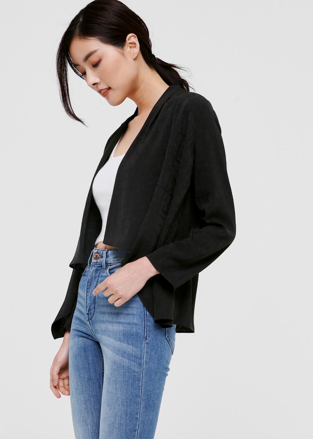 Zyla Cascade Front Blazer