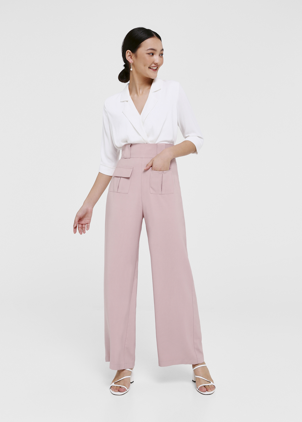 Roux Pocket Front High Waist Pants