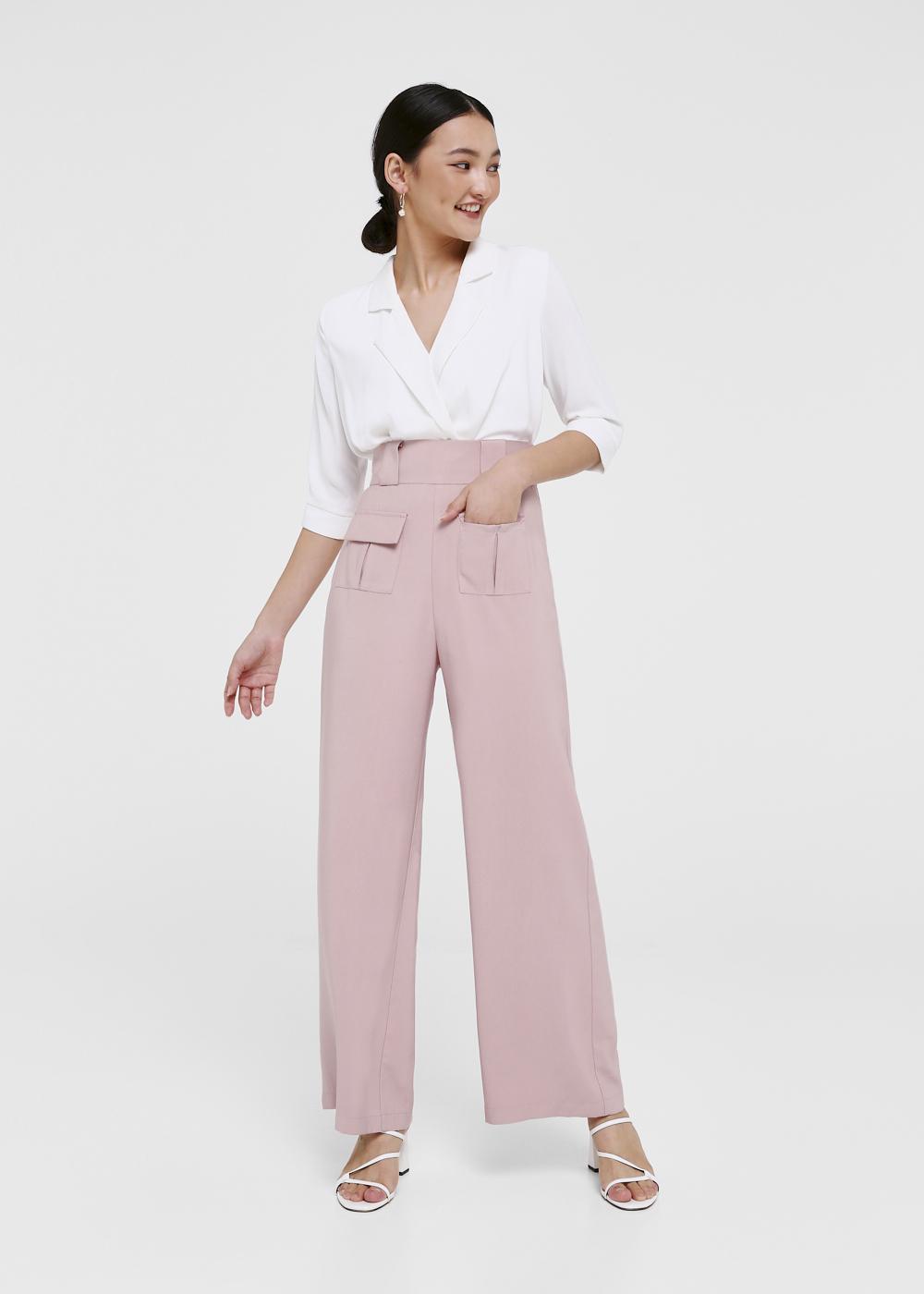 Roux Pocket Front High Waist Pants