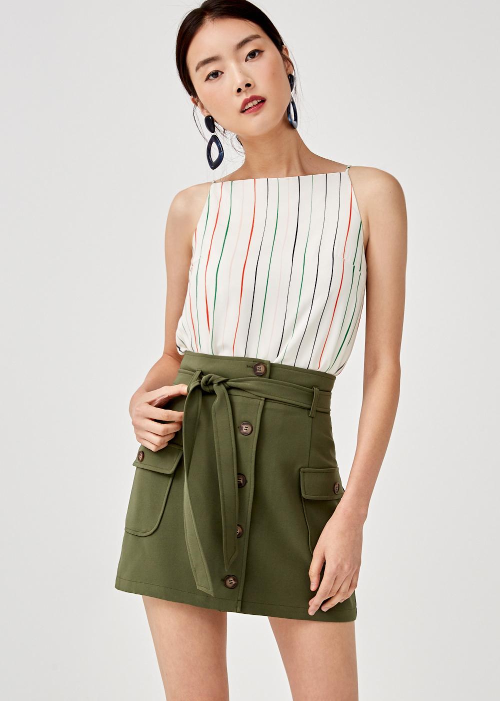 Alayna Square Neck Camisole Top in Sunburst Stripe