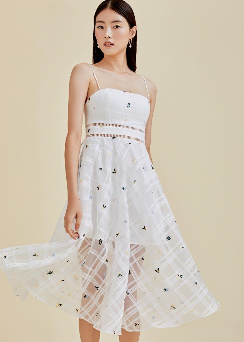 Henley Organza Midi Dress