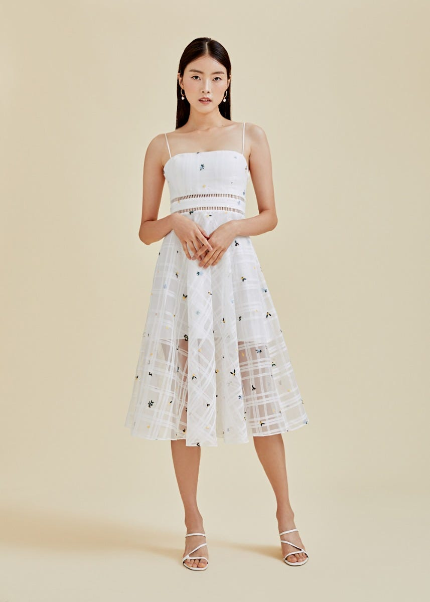 Henley Organza Midi Dress