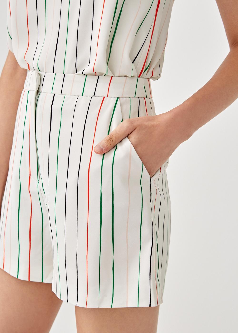 Alayna Shorts in Sunburst Stripe