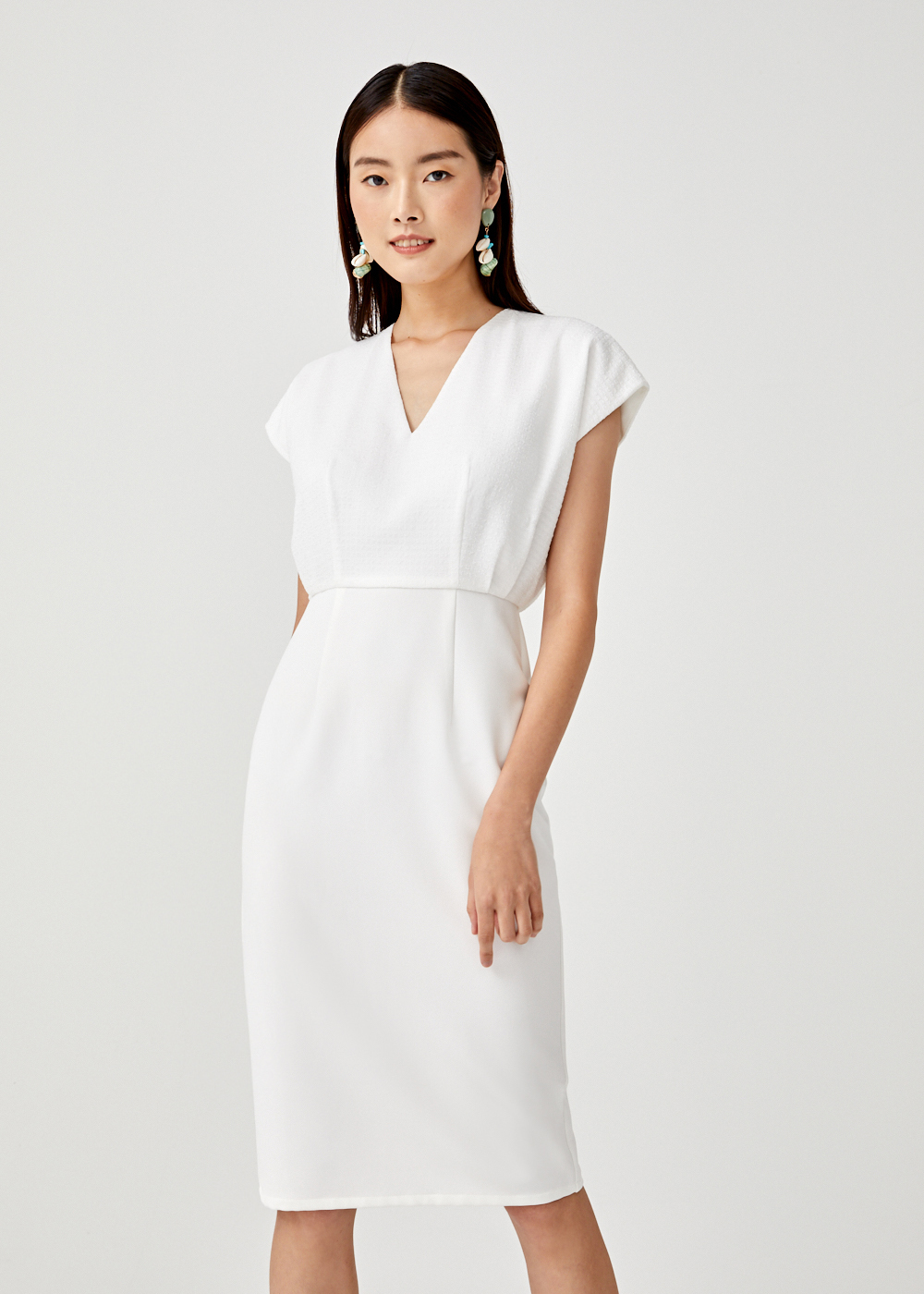 Isabella Cap Sleeve Midi Dress