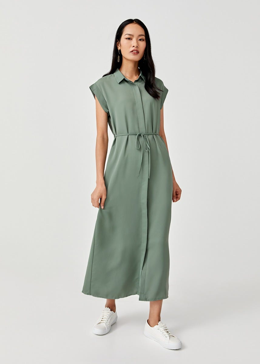 Billie Maxi Shirt Dress