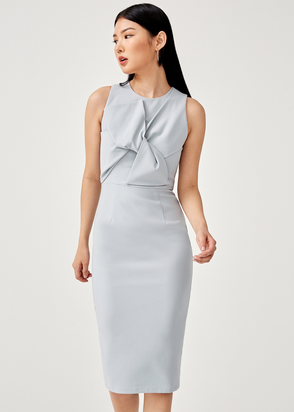 Lauretta Knot Front Bodycon Dress